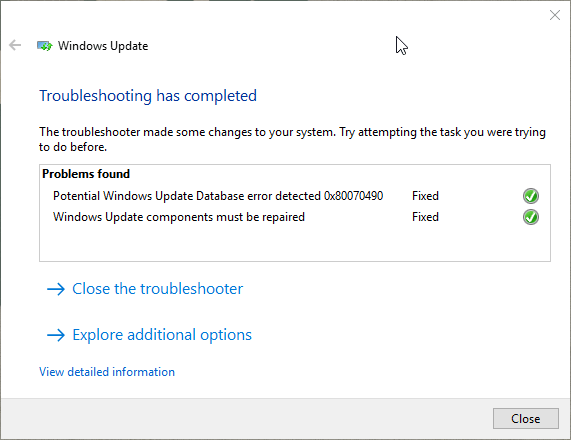 Windows 10 Update Error 0xc1900107