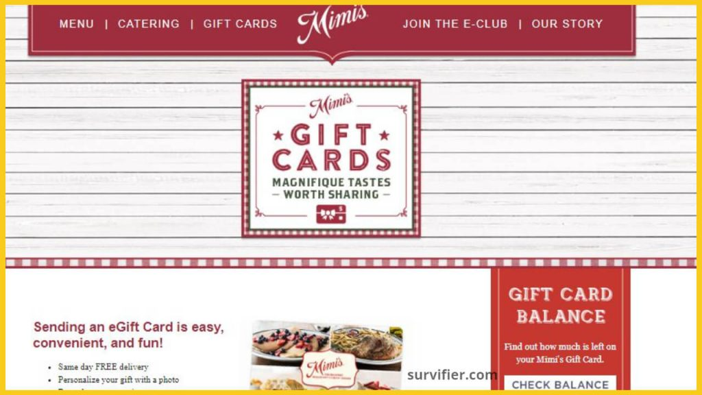 gift card mimi's cafe